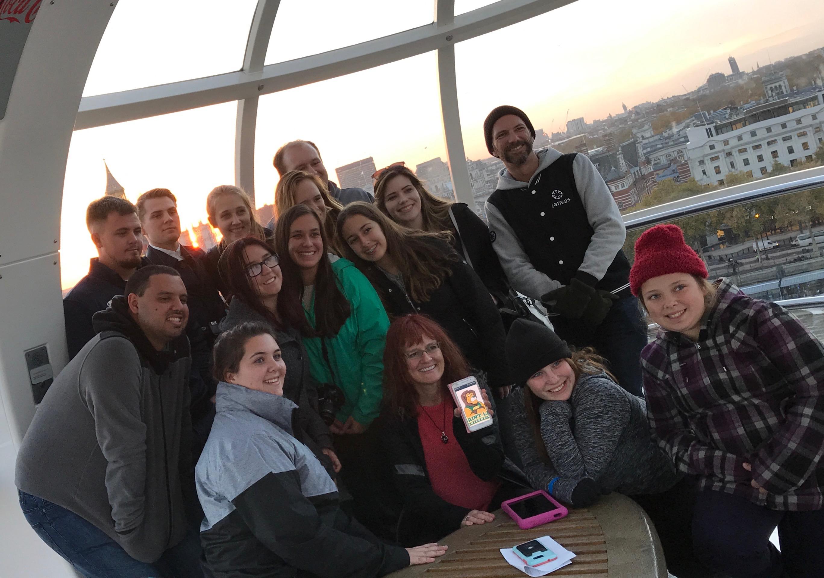 Students in Saint Leo University's Harry Potter class in Europe