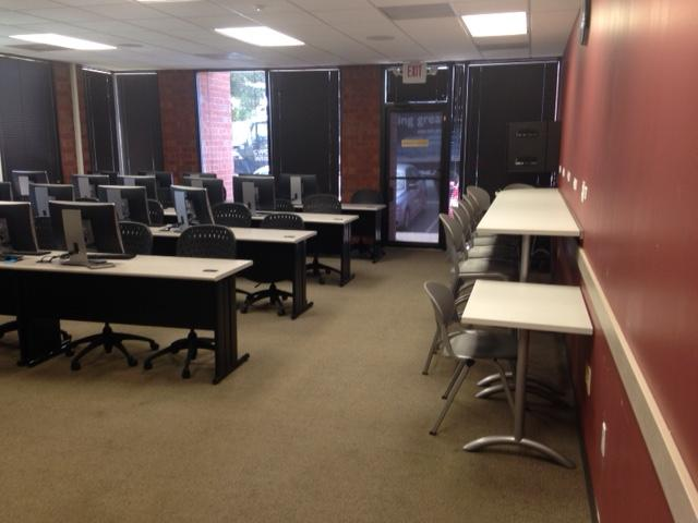 The cybersecurity lab at Saint Leo University's Marietta, GA Education Center