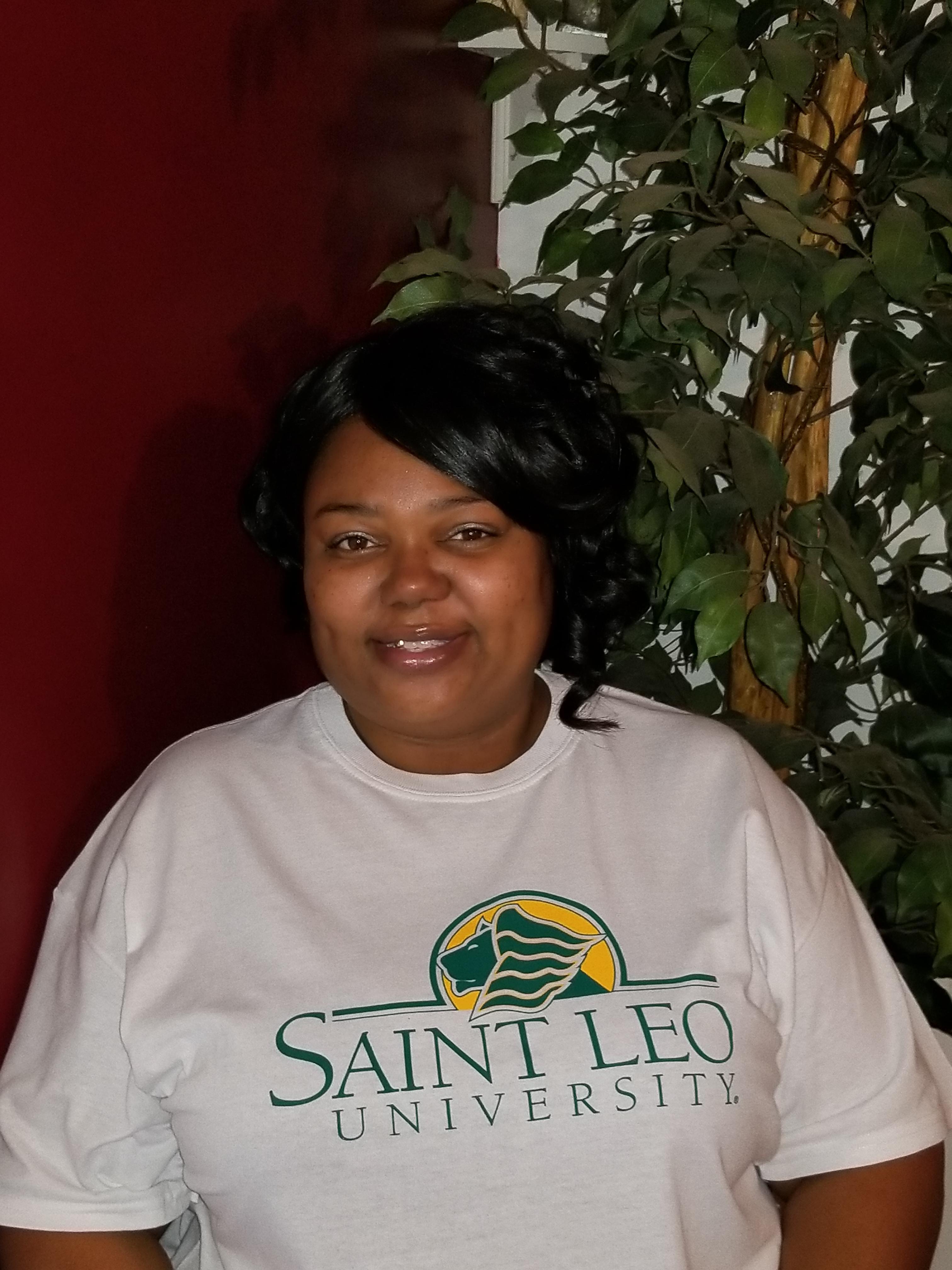 Saint Leo University student McKisha Jones